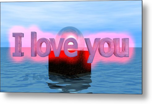 Metal Print featuring the digital art Love by Andreas R Wesener