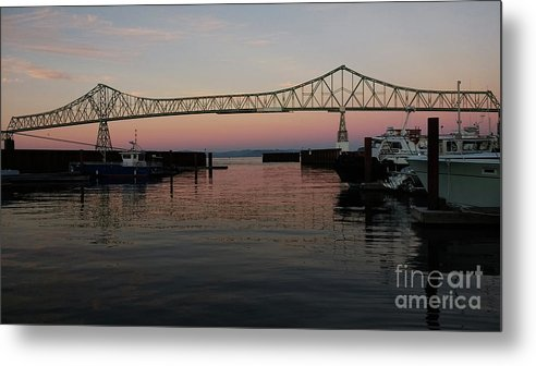 Denise Bruchman Metal Print featuring the photograph Megler Sunset by Denise Bruchman