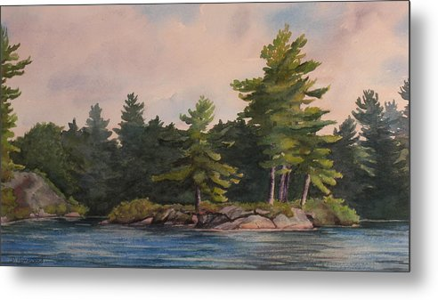 Island Metal Print featuring the painting Morning Light by Debbie Homewood