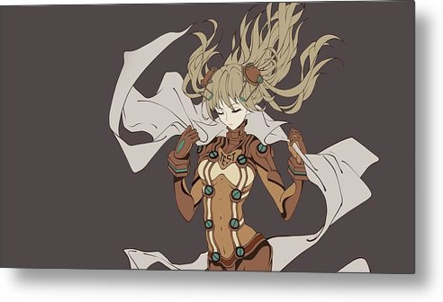 Neon Genesis Evangelion Metal Print featuring the digital art Neon Genesis Evangelion by Dorothy Binder