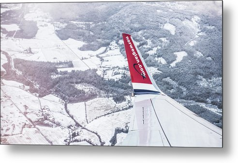 Norwegian Metal Print featuring the photograph Norwegian Aerial by Christoffer Karlsson