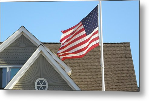 Flag Metal Print featuring the photograph Old Saybrook Ct by Steven W Rand