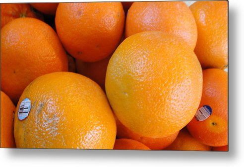 Fruit Metal Print featuring the photograph Orange You Glad by Kathi Tesone