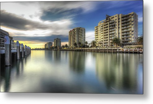 Australia Metal Print featuring the photograph Port Melbourne Dreaming by Paradigm Blue