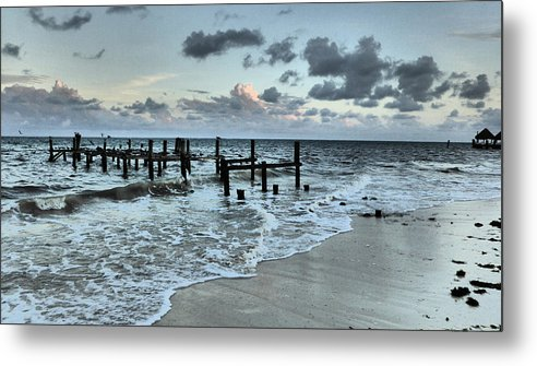 Seascape Metal Print featuring the photograph Puerto Morelos by Pamela Campbell