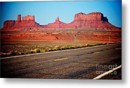 Landscape Metal Print featuring the photograph Road To Monument Valley by Hideaki Sakurai