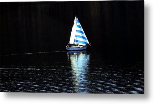 Sailboat Metal Print featuring the photograph Sailing by Tiffany Vest