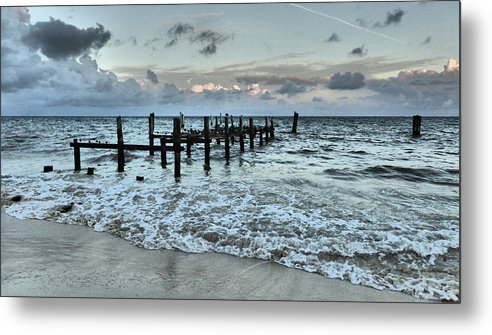 Seascape Metal Print featuring the photograph Seascape Puerto Morelos by Pamela Campbell