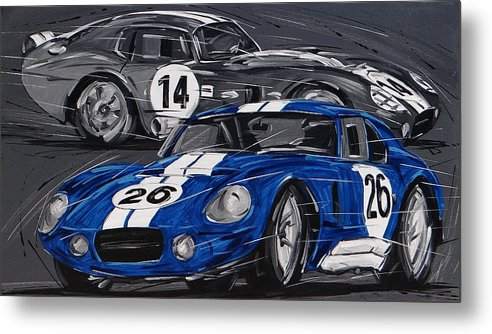 Cars Metal Print featuring the painting Shelby Daytona by Roberto Muccilo