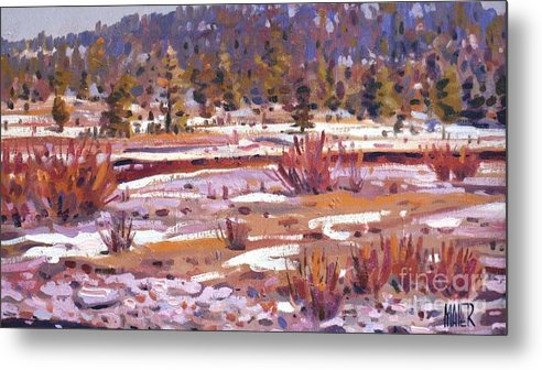 Sierra Nevadas Metal Print featuring the painting Sierra Creek by Donald Maier