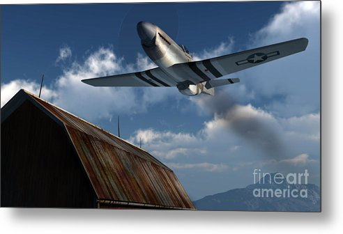 Aviation Metal Print featuring the digital art Sightseeing by Richard Rizzo