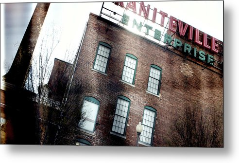 enterprise Mill Metal Print featuring the photograph Slit Scan 2 by Patrick Biestman