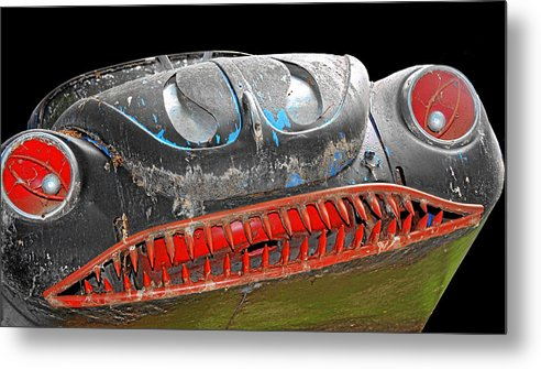 Horror Cars Metal Print featuring the photograph Some Cars Are Born Bad by Christine Till