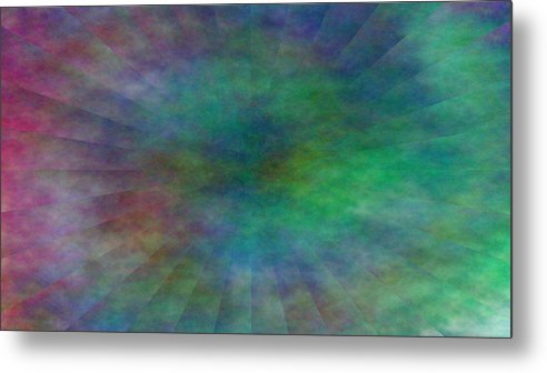 Metal Print featuring the digital art Structures by Andreas R Wesener