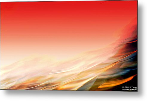 Wave Metal Print featuring the photograph Sweeping Heat by JCYoung MacroXscape