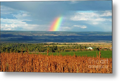 Pleasant View Colorado Metal Print featuring the photograph The Pleasant View Rainbow by David Lee Thompson