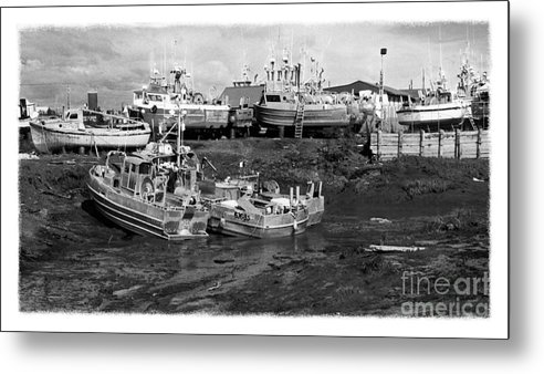 Alaska Metal Print featuring the photograph The Real Alaska - Caught At Low Tide by Pete Hellmann