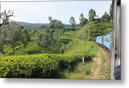 Landscape Metal Print featuring the photograph Travelling By Train From Colombo To Badulla by Mohan