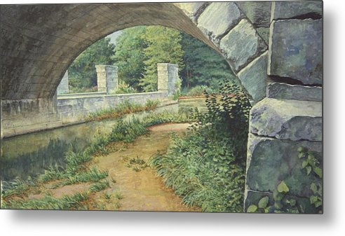 Erie Canal Metal Print featuring the painting Under The Erie Canal by Stephen Bluto