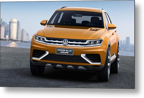 Volkswagen Crossblue Metal Print featuring the digital art Volkswagen Crossblue by Zia Low