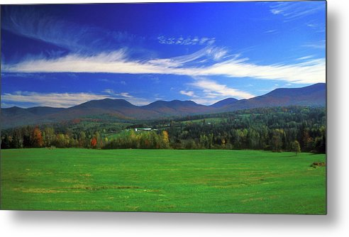 New Hampshire Metal Print featuring the photograph White Mountains From Route 2 by John Burk