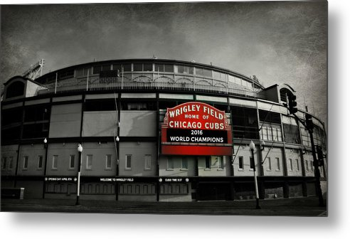 Cubs Metal Print featuring the photograph Wrigley Field by Stephen Stookey