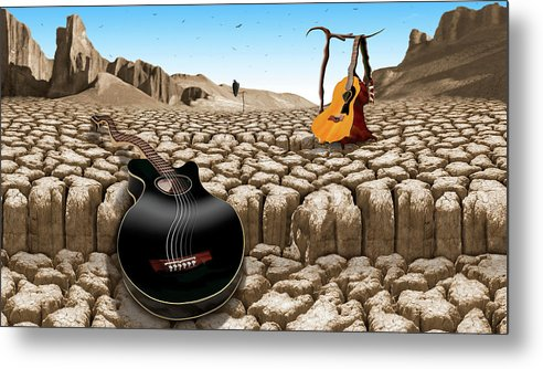 Rock And Roll Metal Print featuring the photograph An Acoustic Nightmare H D by Mike McGlothlen