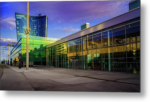 Building Metal Print featuring the photograph Messe Wien by Borja Robles