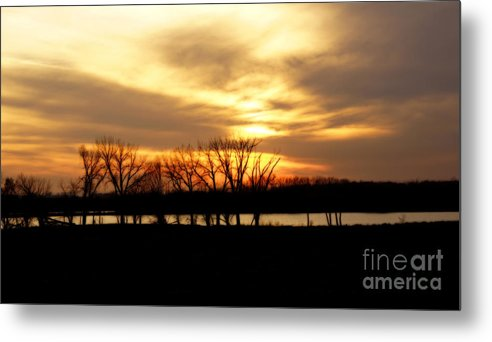 Nature Metal Print featuring the photograph Sunset On The Prairie by Lori Tordsen