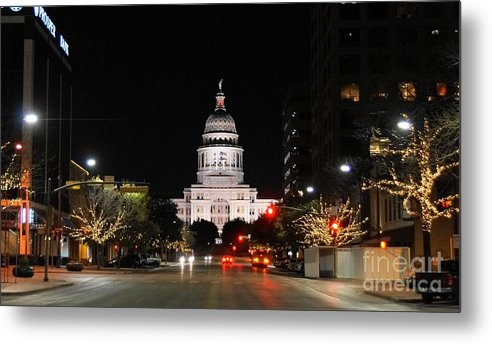 Austin Capital City Metal Print featuring the photograph Austin Capital City by William Bosley