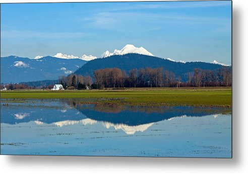 Mt. Baker Metal Print featuring the photograph Baker Reflection by Shari Sommerfeld