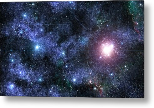 Space Metal Print featuring the photograph Beyond The Stars by Jayden Bell