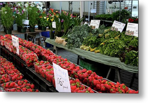 Market Metal Print featuring the photograph City Market - Manhattan by Christiane Schulze Art And Photography