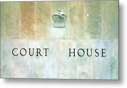 Ontario Metal Print featuring the photograph Court House Sign by Valentino Visentini