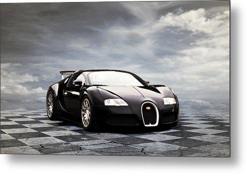 Bugatti Metal Print featuring the digital art Dream Machine by Peter Chilelli