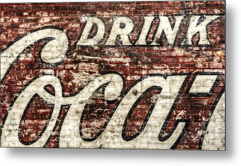 Red Metal Print featuring the photograph Drink Coca-cola 2 by Scott Norris