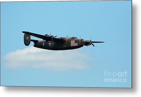World War Ii Metal Print featuring the photograph Flying The Flag by Cindy Manero