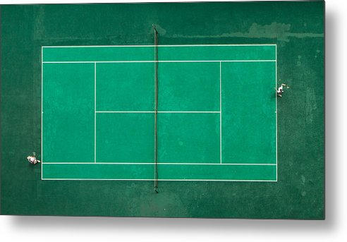 Tennis Metal Print featuring the photograph Game! Set! Match! by Fegari