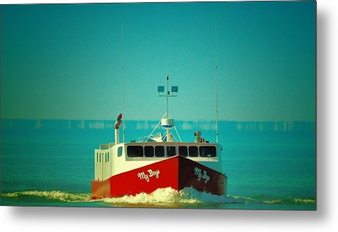 Boating Metal Print featuring the photograph My Boy's by Tracy Bennett