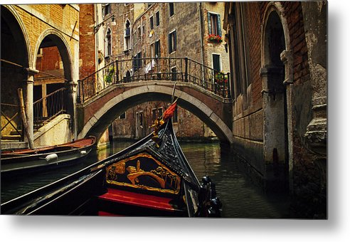 Venice Metal Print featuring the photograph Passages Of Venice by Andrew Soundarajan