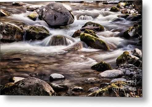 River Metal Print featuring the photograph River Flowing Over Rocks by Simon Bratt Photography LRPS