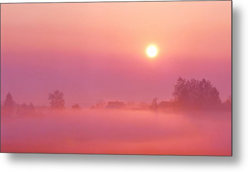 Sunrise Metal Print featuring the photograph Romantic by Heike Hultsch