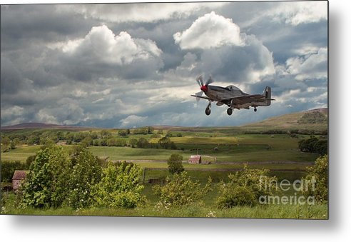 Stormy Landing Metal Print featuring the photograph Stormy Landing by Pauline Tims