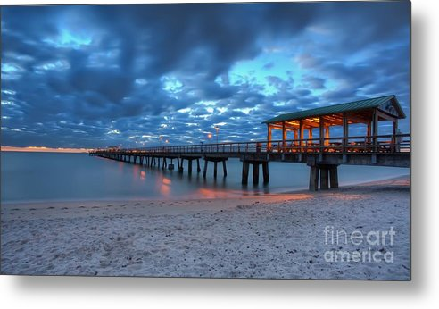 Sunrise Metal Print featuring the photograph Sunrise At Anglin's Fishing Pier by Anthony Festa
