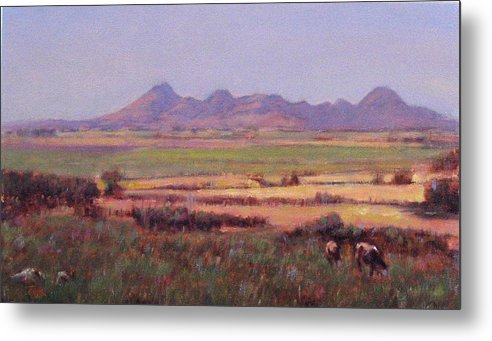 Mountain Metal Print featuring the painting Sutter Buttes In Summer Afternoon by Takayuki Harada