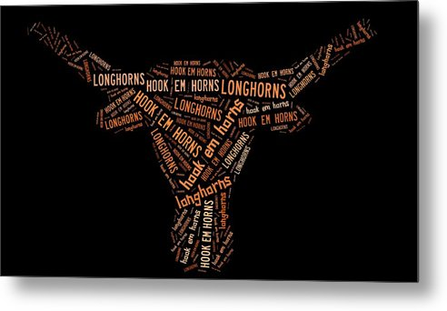 Ut Metal Print featuring the digital art University Of Texas by Linda Brown