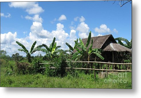 Landscape Metal Print featuring the photograph Nipa Hut by Roberto Prusso