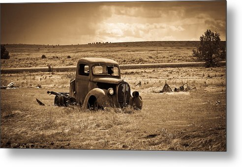 Ford Truck Metal Print featuring the photograph 1938 Ford Pickup by Steve McKinzie