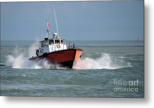 Boat Metal Print featuring the photograph Huron Belle Pilot Boat by Ronald Grogan