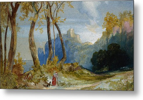 Thomas Moran Metal Print featuring the painting In The Hills by Thomas Moran